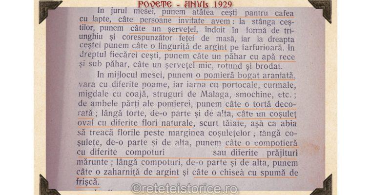 POVETE – ANUL 1929