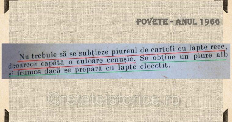 POVETE – ANUL 1966