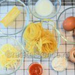 omleta cu macaroane