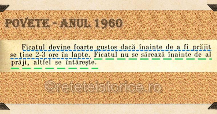 POVETE – ANUL 1960