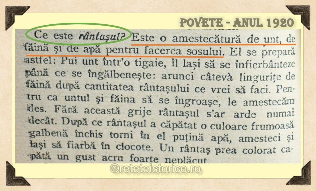 POVETE – ANUL 1920